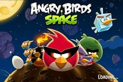 Pantalla de inicio de 'Angry Birds Space'