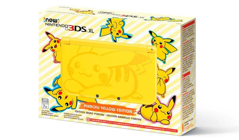 La versión pikachu de la New nintendo 3DS XL, es un exito en oriente y en occidente